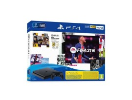 PlayStation 4 500GB F Chassis Black + FIFA 21 + FUT VCH + PS Plus 14 dana
