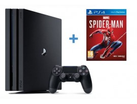 GAM SONY PS4 Pro 1TB G chassis Black + gratis Spider-Man