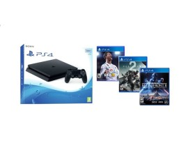 GAM SONY PS4 500G F + 3 igre: Fifa 18, Destiny 2, Star Wars