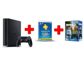 GAM SONY PS4 500GB F Chassis Black+DS+Fortnite VCH+ Plus Card 365 Days