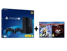 GAM SONY PS4 Pro 1TB + dod. kontoler + Ratchet and Clank + GTS