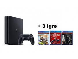GAM SONY PS4 500GB + Spiderman + Last of Us + Little Big Planet