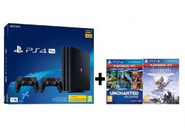 GAM SONY PS4 Pro 1TB + dod. kontoler + Uncharted + Horizon Zero