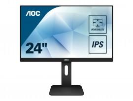 AOC 24P1 - 60 cm (23,8 Zoll), LED, IPS-Panel, Höhenverstellung, Lautsprecher, USB-Hub, HDMI, DisplayPort