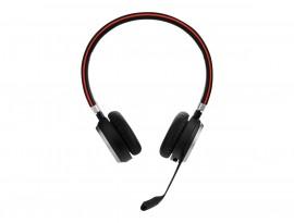 Jabra Evolve 65 Headset, Stereo, Kabellos, Bluetooth, inkl. Link 370 und Ladestation, Optimiert für Skype for Business