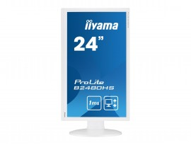 Iiyama ProLite B2480HS-W2 - 60 cm (23,6 Zoll), LED, 1 ms, Höhenverstellung, Pivot, HDMI, weiß