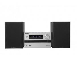 Kenwood M718BT Silber-Schwarz - Micro HiFi-System (50W, CD/Radio/USB, Bluetooth)