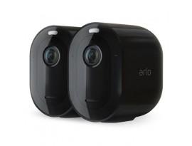 Arlo Pro 3 Netzwerk-Kamera 2er Set, Schwarz (VMS4240B) - Kabelloses 2K QHD Sicherheitssystem