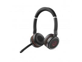 Jabra Evolve 75 Headset, Stereo, Kabellos, Bluetooth, ANC, inkl. Link 370 und Ladestation, Optimiert für Unified Communication