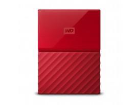 WD My Passport v1 4TB Rot - externe Festplatte, USB 3.0 Micro-B