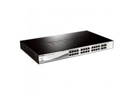 D-Link DGS-1210-28 Gigabit 24-Port Smart Managed Switch (1000 Mbit/s, Auto MDI/MDIX, Auto-Negotiation, 4x SFP-Slot)