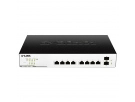 D-Link DGS-1100-10MP 10-Port Smart Managed Switch (1000 Mbit/s, 2x SFP, 8x PoE)