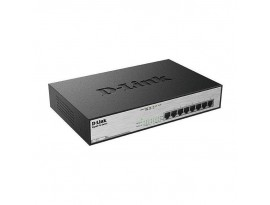 D-Link 8-Port Desktop Switch (DGS-1008MP) [PoE, Gigabit-LAN, unmanaged, Green Network Technologie]