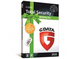 G DATA Total Security Birthday Box [1 PC - 2 Android - 1 Jahr - Vollversion]