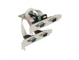 DeLOCK 4x seriell, PCIe x1 Schnittstellenkarte