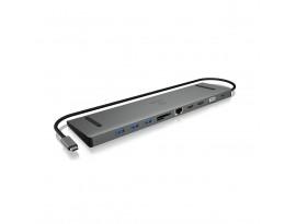 ICY BOX IB-DK2106-C USB Type-C™ DockingStation mit dreifacher Videoausgabe