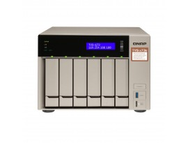 QNAP Systems TVS-673e-4G NAS 6-Bay [0/6 HDD/SSD, 4x GbE LAN, 4GB RAM]