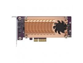 QNAP Systems QM2-2S-220A Dual M.2 22110/2280 SATA-SSD-Erweiterungskarte (PCIe Gen2 x2)