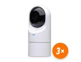 Ubiquiti UniFi G3 Flex Überwachungskamera 3er Pack (UVC-G3-FLEX-3) [Indoor/Outdoor, PoE, Full-HD, Nachtsicht]