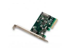i-tec 1x USB-C 3.1, 1x USB-A 3.1, PCIe 2.0 x4 Schnittstellekarte