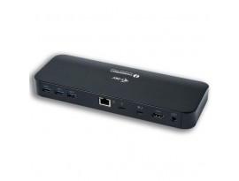 i-tec Thunderbolt 3 Dual 4K Docking Station, 2x 4K/60Hz oder 1x 5K/60Hz TB3, 1x HDMI, 1x LAN, 6x USB 3.0, SD-Kartenleser