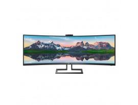 Philips 439P9H - 110 cm (43 Zoll), LED, VA-Panel, Curved, HDR 400, Höhenverstellung, Pop-up-Kamera, USB-C