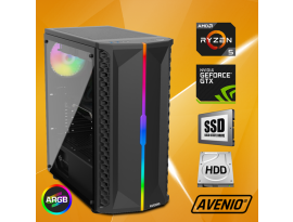 Stolno računalo Avenio OptiGamer AMD Ryzen 5 3400G 3.70GHz 16GB 480GB SSD + 1TB HDD FreeDOS nVidia GeForce GTX 1660 SUPER 6GB GDDR6