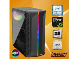Stolno računalo Avenio OptiGamer Intel Core i5 9400F 2.90GHz 16GB 480GB SSD + 1TB HDD FreeDOS nVidia GeForce GTX 1660 SUPER 6GB GDDR6