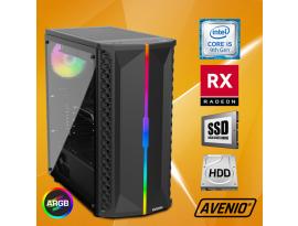 Stolno računalo Avenio OptiGamer Intel Core i5 9400F 2.90GHz 16GB 480GB SSD + 1TB HDD FreeDOS AMD Radeon RX 5600XT 6GB GDDR6