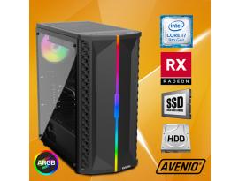 Stolno računalo Avenio OptiGamer Intel Core i7 9700 3.00GHz 16GB 480GB SSD + 1TB HDD FreeDOS AMD Radeon RX 5600XT 6GB GDDR6