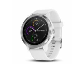 Pametni fitness GPS sat Garmin vivoactive 3 bijelo-srebrni (bijeli remen)