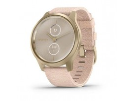 Pametni hibridni sat Garmin vivomove Style Light Gold Blush Pink Nylon (ružičasti remen)