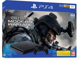 Igraća konzola PlayStation 4 1TB F chassis Black + Call of Duty: Modern Warfare 2019