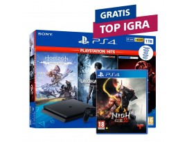 Igraća konzola PlayStation 4 1TB F chassis + GT Sport + Horizon Zero Dawn CE + Uncharted 4 Hits