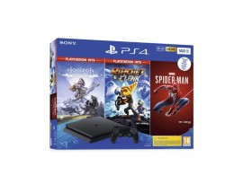 Igraća konzola PlayStation 4 500GB + Marvel's Spiderman/Horizon Zero Dawn Complete Edition/Ratchet and Clank Hits bundle