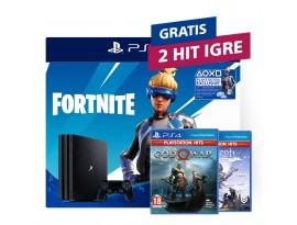 Igraća konzola PlayStation 4 Pro 1TB G chassis + Fortnite VCH (2019) + 2 HIT naslova po izboru