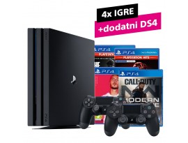 Igraća konzola PS4 Pro 1TB + dodatni DS4 kontroler + CoD Modern Warfare + FIFA 20 + GTS + The Last of Us