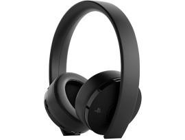 PS4 Wireless Gold Headset Black