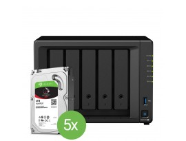 """Synology DiskStation DS1019+ 5-Bay NAS 20TB IronWolf Bundle [inkl. 5x 4TB 3,5"""" Ironwolf HDD]"""