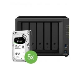 Synology DiskStation DS1019+ 10TB Bundle [Inkl. 5x 2TB Seagate Exos 7E2 512n 3.5 Zoll SATA 6Gb/s]