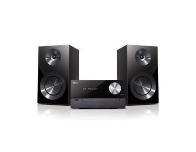 LG CM2460 Schwarz - Micro-HiFi Anlage mit Bluetooth (100W, DAB Radio, CD/USB) 106223