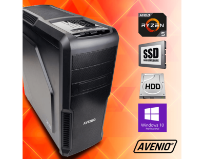 Stolno računalo Avenio ProMedia AMD Ryzen 5 2400G 3.60GHz 8GB 256GB NVMe SSD + 1TB HDD DVDRW W10P Radeon™ Vega 11 122998