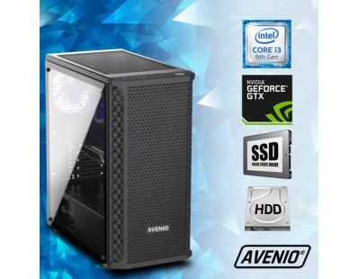 Stolno računalo Avenio TopGamerIntel Core i3 9100F 3.60GHz 8GB 240GB SSD + 1TB HDD FreeDOS nVidia GeForce GTX 1650 SUPER 4GB GDDR6 122111