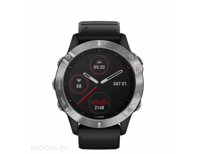 Pametni multisport GPS sat Garmin Fenix 6 PRO Black (crni remen) 112372