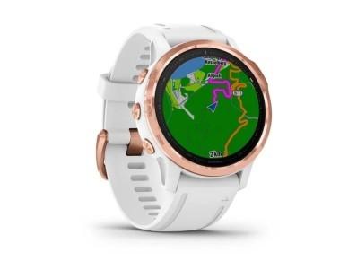 Pametni multisport GPS sat Garmin Fenix 6S PRO Rose Gold bijeli (bijeli remen, manje kućište) 112355
