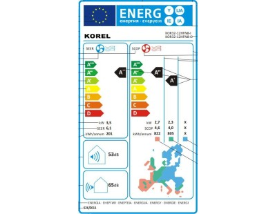 Klima uređaj Korel Nexo 12HFN8 komplet 111860