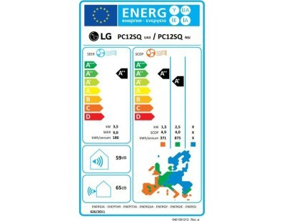 Klima uređaj LG PC12SQ Sirius Dual Inverter, WiFi, komplet 111825