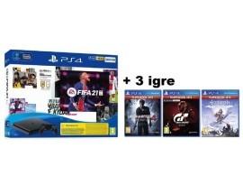 PlayStation 4 500GB + FIFA 21 + dod 3 igre