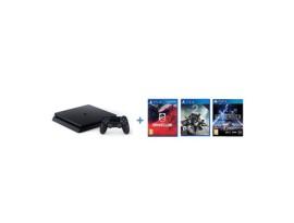 GAM SONY PS4 500G F + 3 igre: Drive CLub, Destiny 2, Star Wars