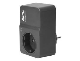 APC PM1WB-GR Überspannungsschutz, schwarz (Surge Protector, Basisschutz gegen Überspannungen, 230 V, 1x Ausgang)